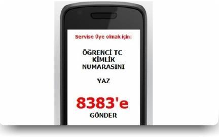 rencinizin tc kimlik numarasn 8383 e gndererek meb mobil bilgi servisine ye olun rencinizle ilgili bilgiler cep telefonunuza ksa mesaj olarak